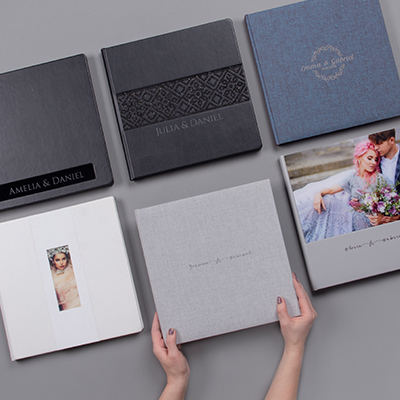 various photo products - digital wedding sample guide
